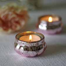 blush pink wedding ideas pink silver tea light holders