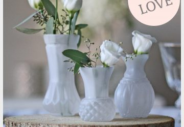 frosted white bud vases