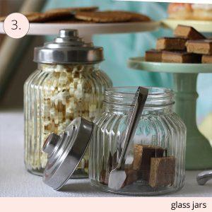 glass jars for wedding dessert tables