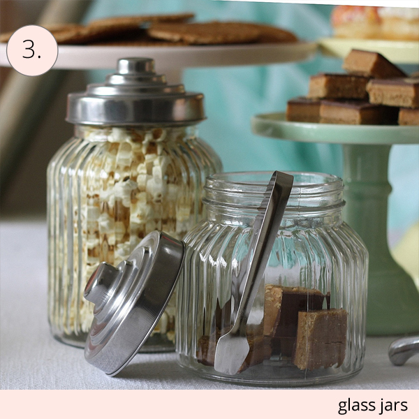 glass jars for wedding dessert tables