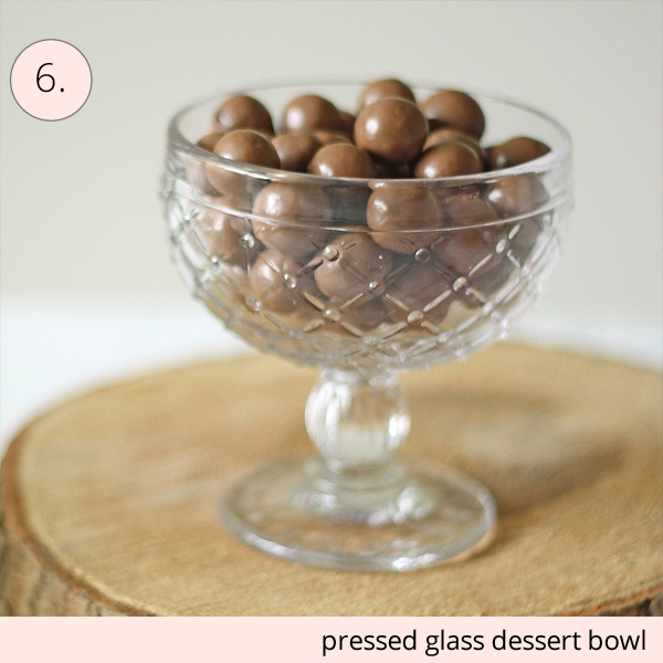 pressed glass dessert bowl