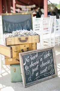 use a suitcase to hold all your order or service scrolls