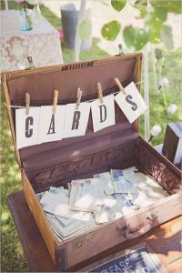 vintage suitcase for wedding cards make your own bunting