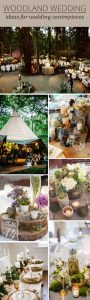 woodland wedding centrepiece ideas