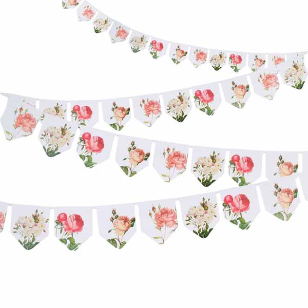 Botanical floral bunting for weddings