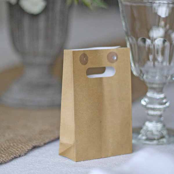 brown paper wedding favour bags for sale