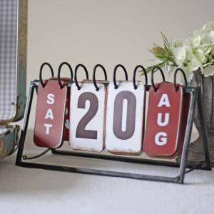 calendar to display wedding date vintage
