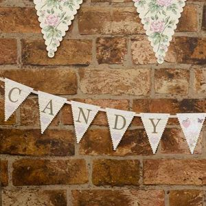 candy buffet pretty floral bunting