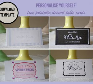 free printable dessert table label template