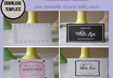 free printable dessert table label template