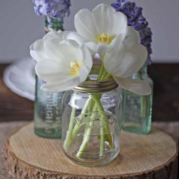 kilner jam jar for wedding centrepieces