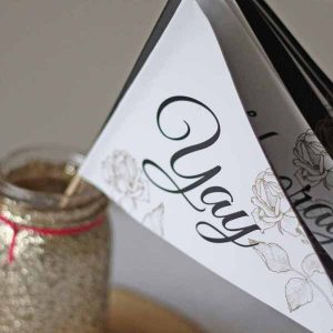 paper flags for weddings instead of confetti