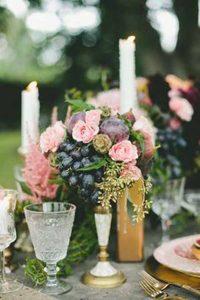 pressed glass wedding decorations