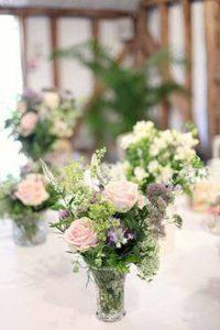 pressed glass wedding decorations  - centrepieces