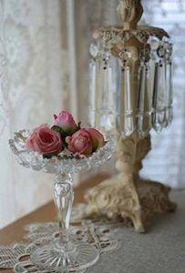 pressed glass wedding decorations  - edsset table vase