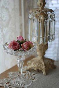 pressed glass wedding decorations  - edsset table vase