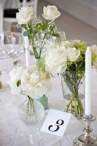pressed glass wedding decorations   - pretty vases