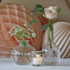 pressed glass wedding decorations - vases