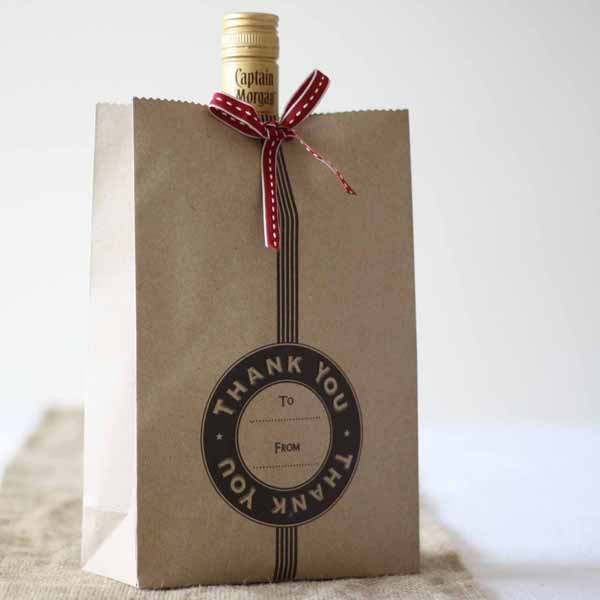 rustic brown paper gift bags for ushers best man