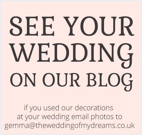 See your wedding featured on our blogl