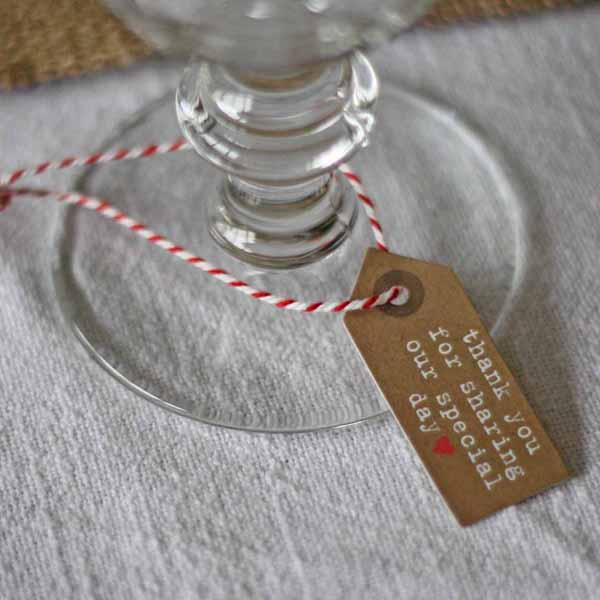 thank you for sharing our special day luggag tags for wedding favours