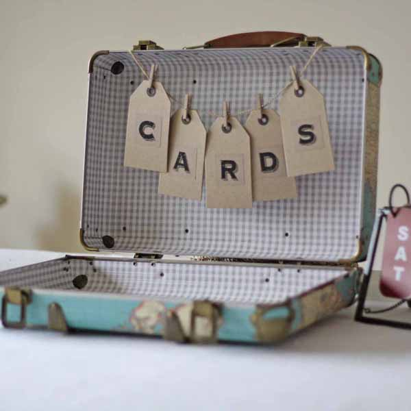 travel suitcase for wedding cards for sale