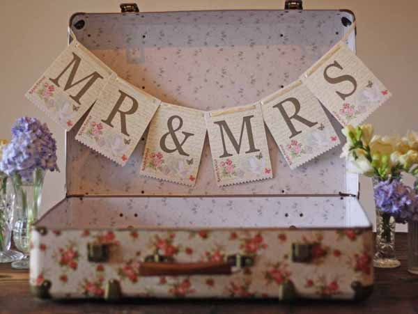 vintage floral suitcase for weddings for sale