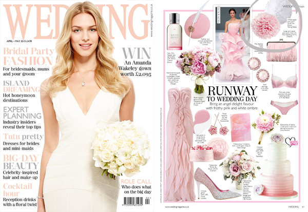 Wedding Magazine pink white paper poms poms hanging decorations