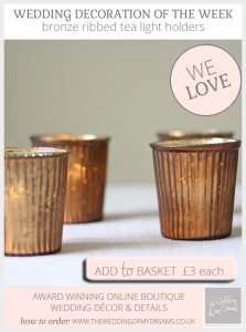 bronze tea light holders wedding decorations