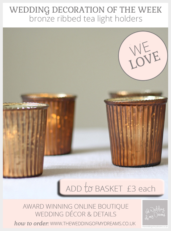 bronze tea light holders wedding decorations