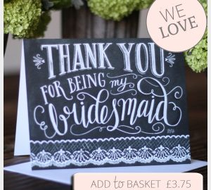 Thank You For Being My Bridesmaid Cards - Blackboard