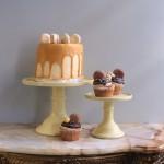 yellow cake plates for wedding cakes
