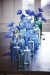 blue bottles for weddings