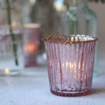 blush pink tea light holder
