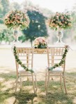 chair back ideas for summer weddings - bride and groom ceremony chairs
