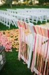 chair back ideas for summer weddings - hang pretty coloured ribbons from chairs