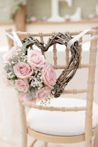 chair back ideas for summer weddings - willow hearts