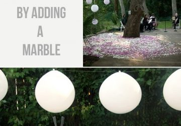 How To Hang Balloons Upside Down For Weddings
