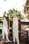 lace and rose chair back ideas for summer weddings