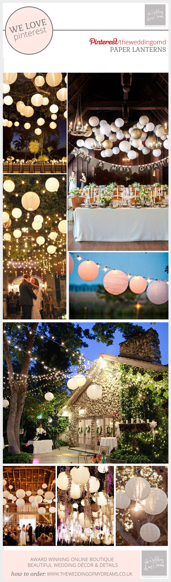 paper lanters for weddings inspiration board