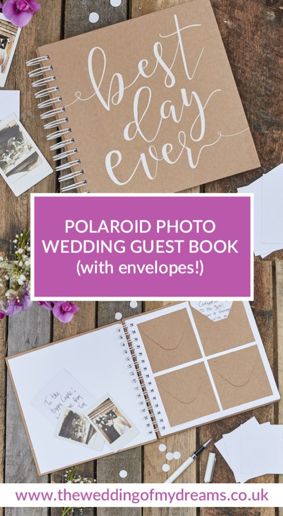 polaroid photo guest books with envelopes wedding