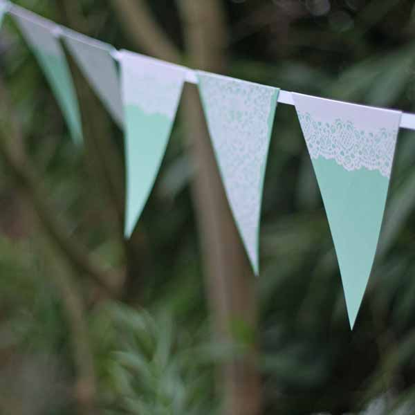 summer wedding decoration ideas bunting
