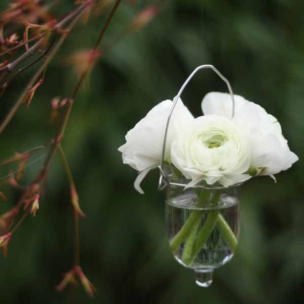 summer wedding decoration ideas hanging flower vases