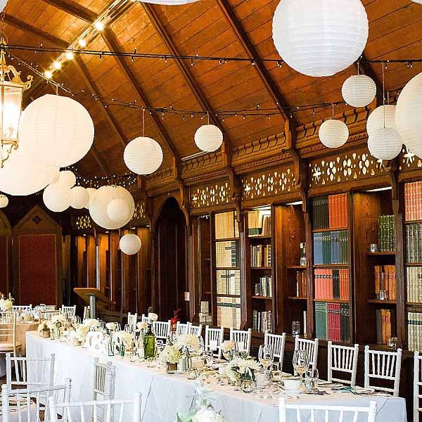 summer wedding decoration ideas white paper lanterns