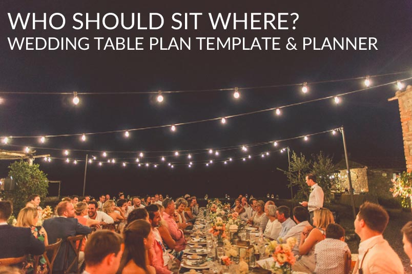 wedding table plan template and planner who should sit where