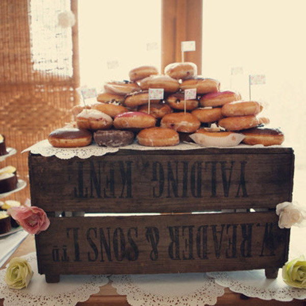 wooden crates - these can have so many uses at woodland weddings