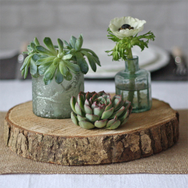 wooden tree slice for wedding centrepieces - our tree slabs come in 3 sizes