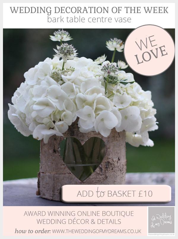 bark vase rustic table centre vase