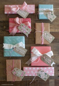 pretty ways to wrap a bridesmaid gift