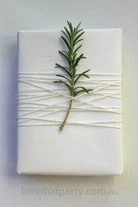 rosemary and twine for a bridesmaids gift wrapping idea